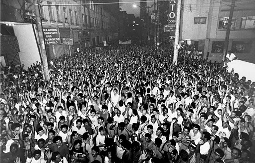 Sindicato Metalúrgicos de São Paulo - Assembleia na Rua do Carmo - 1979-1983